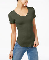 Planet Gold Juniors' Raw-Hem T-Shirt