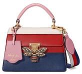 Gucci Queen Margaret Top Handle Leather Satchel - Blue