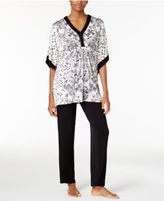 Ellen Tracy Caftan Top and Pants Pajama Set