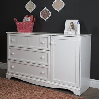 South Shore Savannah 3 Drawer Combo Dresser Color: White