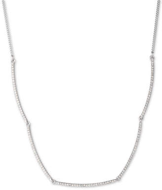 "Givenchy Pave Bar Collar Necklace, 16"" + 3"" extender"