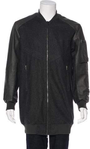 Skingraft Wool & Leather Bomber Jacket