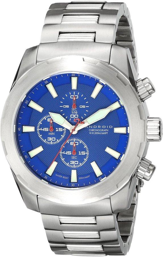 Android Men's AD695BBU Tribeca Analog Swiss-Quartz Silver Watch