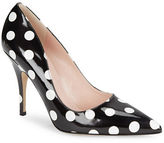 Kate Spade Licorice Dotted Leather Pumps