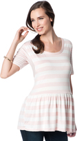 A Pea in the Pod Variegated Stripe Maternity T Shirt