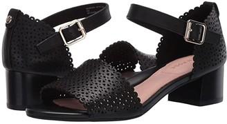 Taryn Rose Marina (Black Leather) Women's Sandals