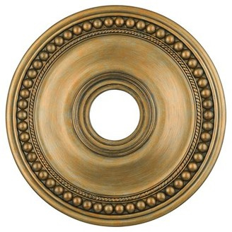 """Livex Lighting Wingate Ceiling Medallion Size: 1.5"""" H, Finish: Hand Painted Antique Gold Leaf"""