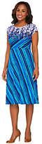 Bob Mackie Bob Mackie's Cap Sleeve Printed Jersey Knit Dress