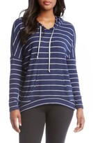 Karen Kane Women's Stripe High/low Hoodie