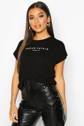 boohoo Amour Fatale French Graphic T-Shirt