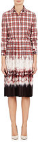 Altuzarra Women's Maria Plaid Crêpe De Chine Shirtdress-RED