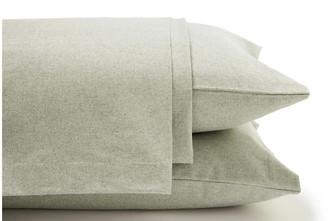 Belle Epoque Heathered Flannel Sheet Set - Sage Twin