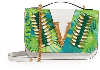 Versace Leather Leaf Virtus Shoulder Bag