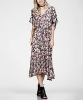 Jane Black & Pink Floral Tie-Waist Midi Dress