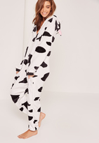 Missguided Cow Print Onesie