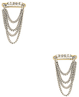 Marc jacobs safety pin layered chain