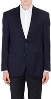 Barneys New York MEN'S TWILL TWO-BUTTON SPORTCOAT-NAVY SIZE 44 L