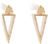 Ileana Makri 18kt Gold Bermuda Triangle Earrings with Diamonds