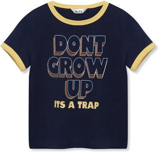 M&Co Dont grow up slogan t-shirt (9mths-5yrs)