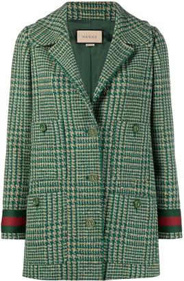 Gucci Web-detail tweed jacket