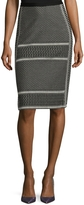 BCBGMAXAZRIA Women's Evangelie Cotton Pencil Skirt