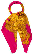 Chanel Camellia Wheat Scarf