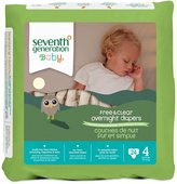Seventh Generation Free and Clear Overnight Diapers Size 4 (22+ lbs)-24 ct