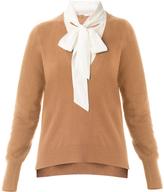 Veronica Beard Arrow Tie Neck Sweater