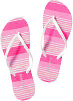 Joe Fresh Women's Toe Strap Flip Flops, Pink (Size 6)