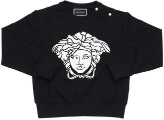 Versace Medusa Print Cotton Sweatshirt