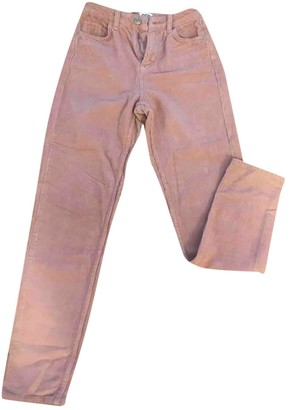 Urban Outfitters Pink Cotton Trousers for Women