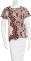 Stella McCartney Lace-Embellished Crew Neck Top