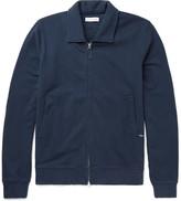 Pop Trading Company - Fleece-back Cotton-jersey Zip-up Cardigan - Navy