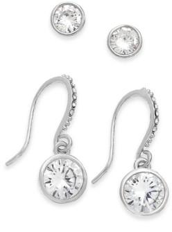 Alfani 2-Pc. Set Cubic Zirconia Stud & Drop Earrings, Created for Macy's