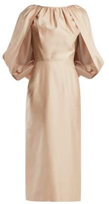 Gabriela Hearst Francisca Silk-shantung Dress - Womens - Light Pink