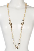 Natasha Accessories Long Ring Chain Necklace