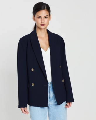 Whistles Belted Double Breasted Blazer