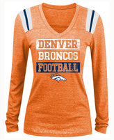 5th & Ocean Women's Denver Broncos Triple Threat Long-Sleeve T-Shirt