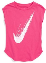 Nike Girl's Swoosh Graphic Tee