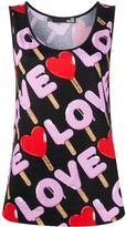 Love Moschino lolly print vest top