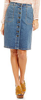 Vince Camuto Two By Denim Button Down Skirt