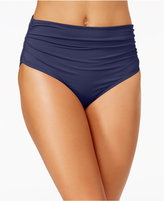 Anne Cole Convertible Shirred Bikini Bottoms