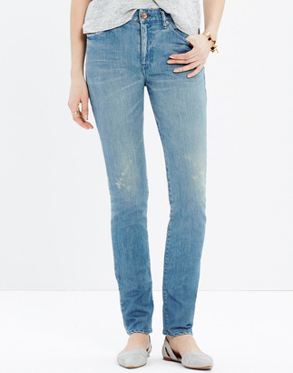 Madewell Chimala Stretch Denim Slim Cut Jeans in Light Wash