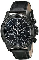 Versus By Versace Men's SOC030014 AVENTURA Analog Display Quartz Black Watch