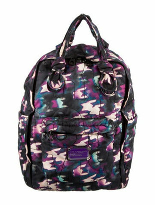 Marc by Marc Jacobs Nylon Printed Backpack Purple
