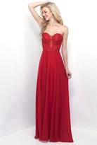 Blush Lingerie Lace Embellished Sweetheart Chiffon A-line Dress 11234