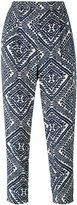 Steffen Schraut printed cropped trousers - women - Viscose - 38