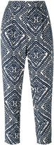 Steffen Schraut printed cropped trousers - women - Viscose - 40