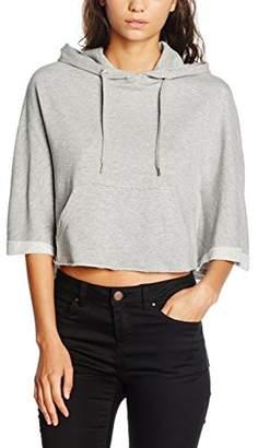 Urban Classic Women's Ladies Cropped Hooded Poncho T - Shirt, Black, M