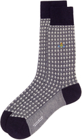 Vivienne Westwood Textured Socks Navy/Cream Size M